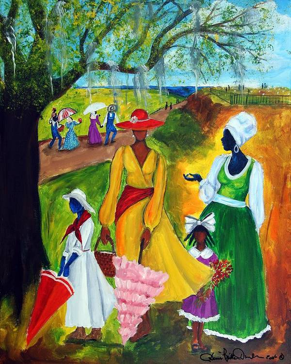Gullah Art Print featuring the painting Memorial Day by Diane Britton Dunham