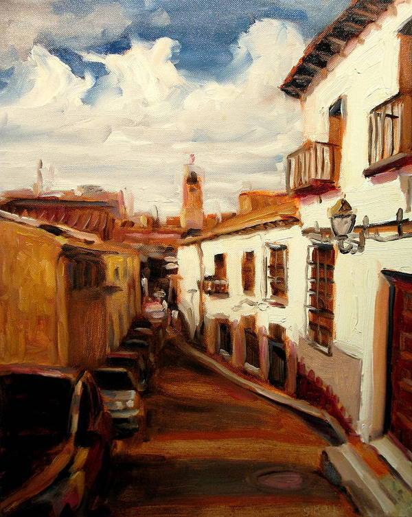 Landscape Paintings Art Print featuring the painting Mexico by Brian Simons