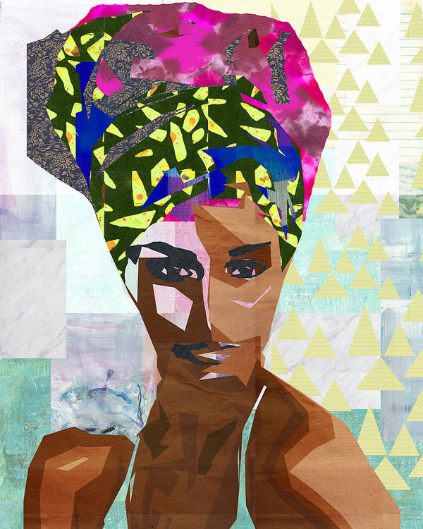 Collage Art Print featuring the mixed media Confidence by Claudia Schoen