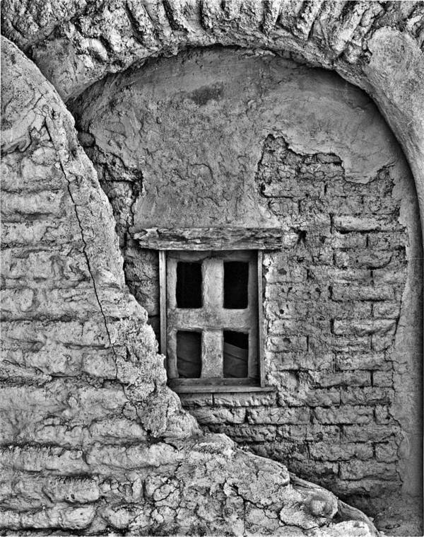 Mission Art Print featuring the photograph Mission Window by Dennis Sullivan