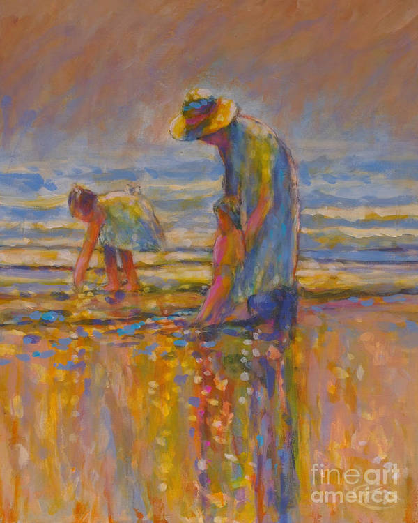 Children Art Print featuring the painting Mom by Kip Decker