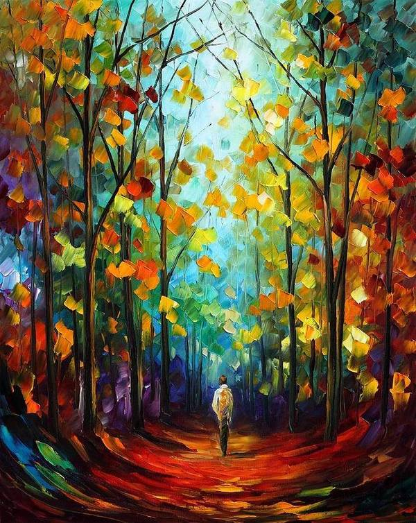 Afremov Art Print featuring the painting Morning Mood by Leonid Afremov