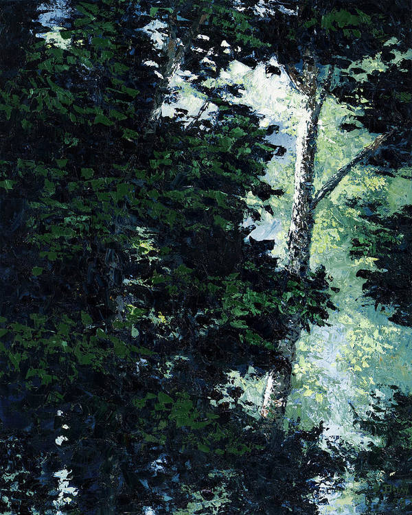 Trees Art Print featuring the painting Morning Trees by Paul Illian