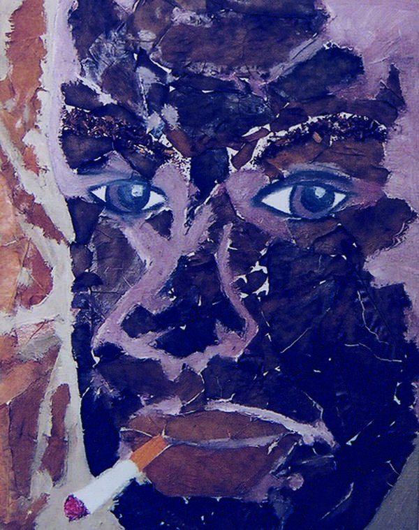 Mixed Media Art Art Print featuring the painting Mr Tobacco Man by Mark Matthews
