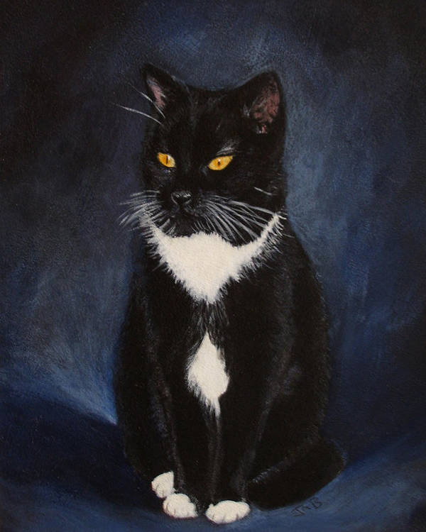 Cat Art Print featuring the painting Murphy by Janice M Booth