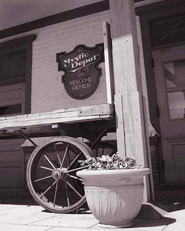 Train Art Print featuring the photograph Mystic Depot by Heather Weikel