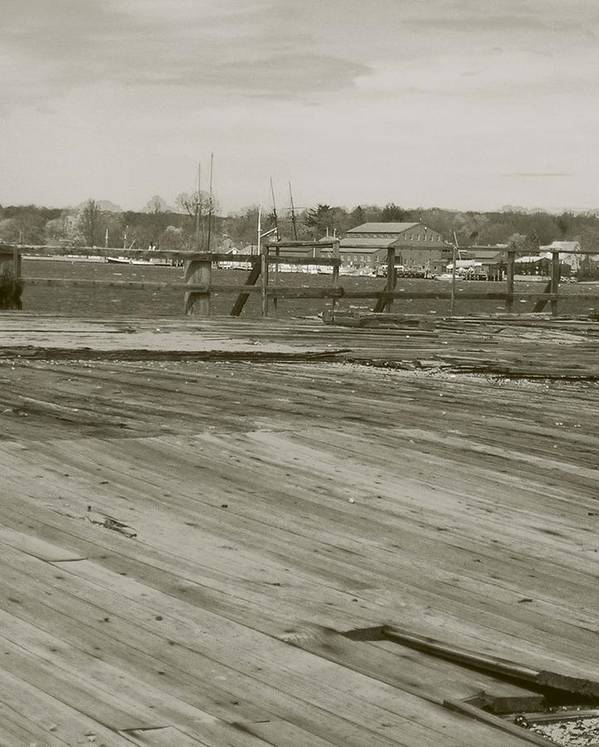 Mystic Dock Art Print featuring the photograph Mystic Dock by Heather Weikel