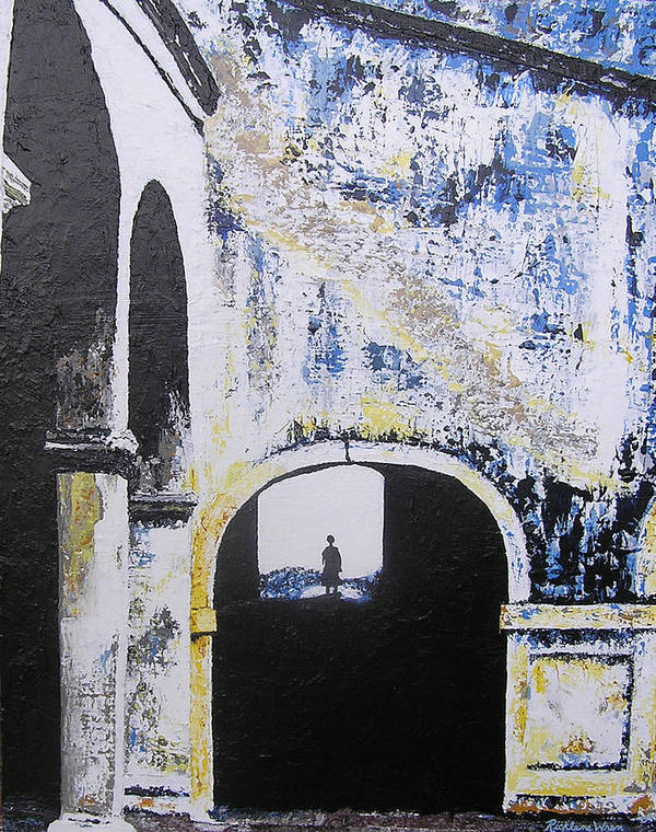 Tunnel Art Print featuring the painting Mystical Moment by Ricklene Wren