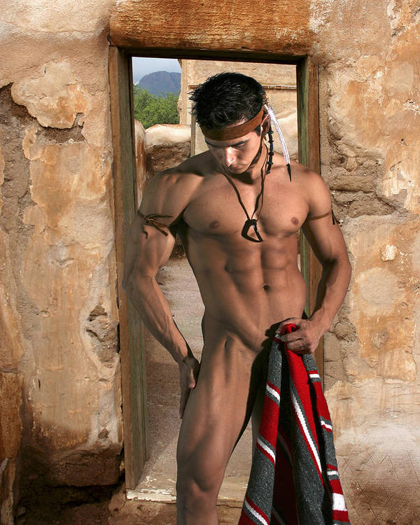 Male Art Print featuring the photograph Native American II by Dan Nelson