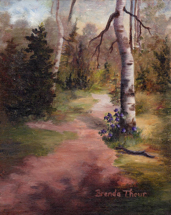 Landscape Art Print featuring the painting Natures' Trail by Brenda Thour