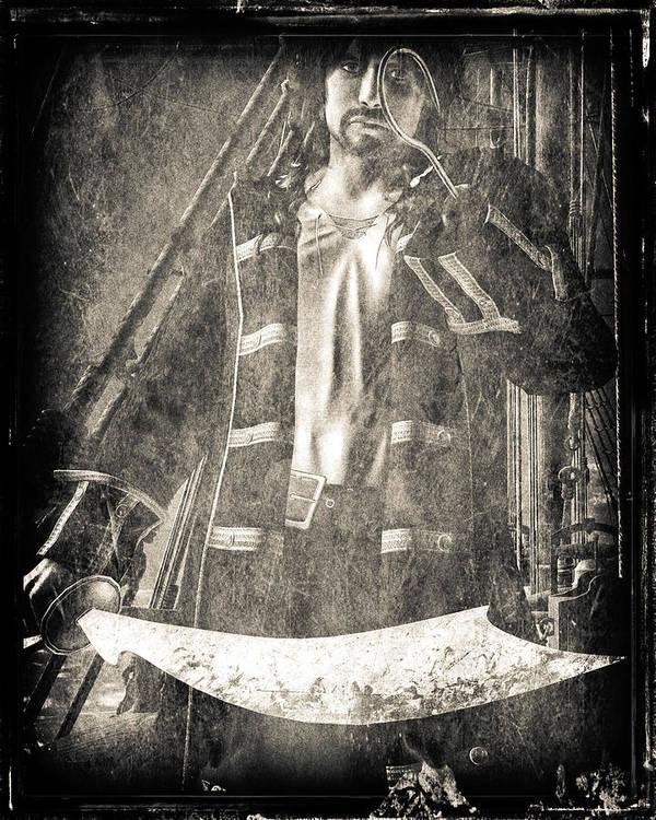 Hook Art Print featuring the digital art Never Neverland Captain Hook by Bob Orsillo