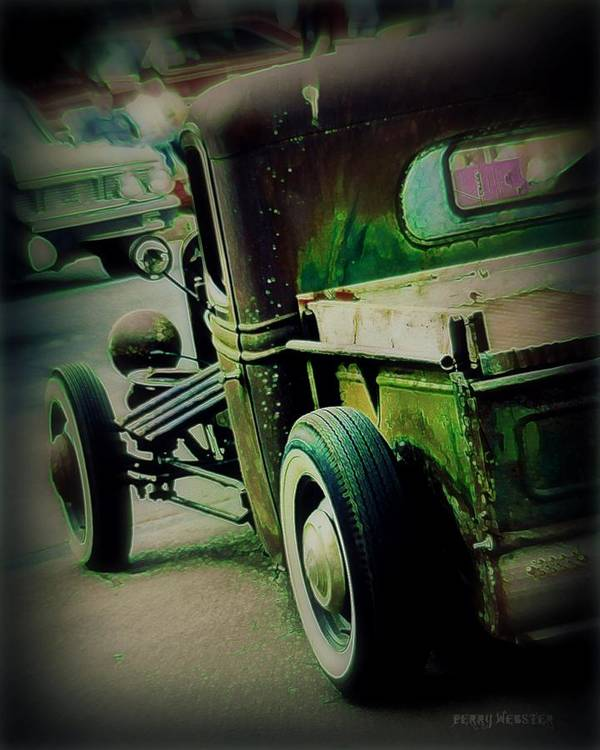 Rat Rod Art Print featuring the photograph Old Drive by Perry Webster