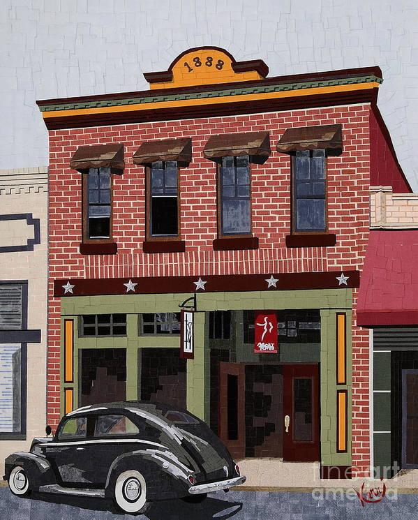 Mixed Media Art Print featuring the mixed media Old Town by Kerri Ertman