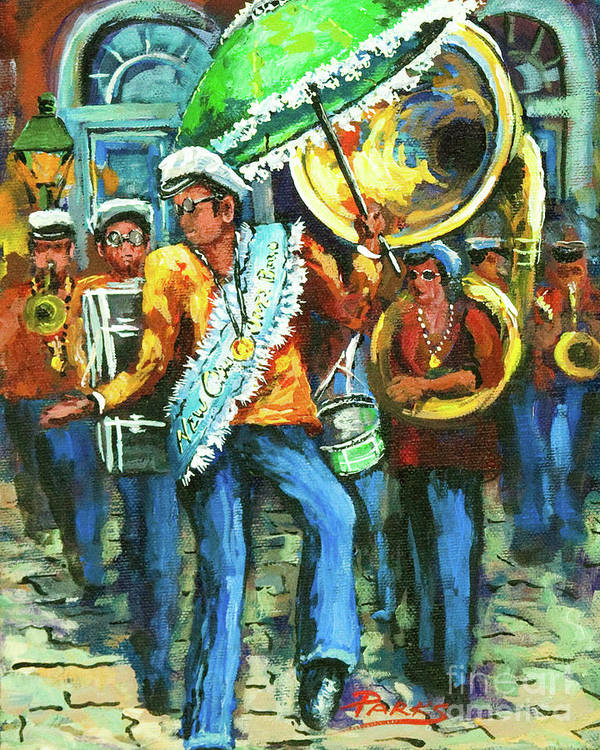 Olympia Art Print featuring the painting Olympia Brass Band by Dianne Parks