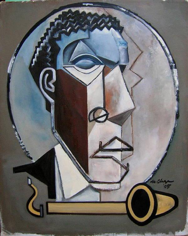 Ornette Coleman Jazz Saxophone Art Print featuring the painting Ornette Sculptural by Martel Chapman