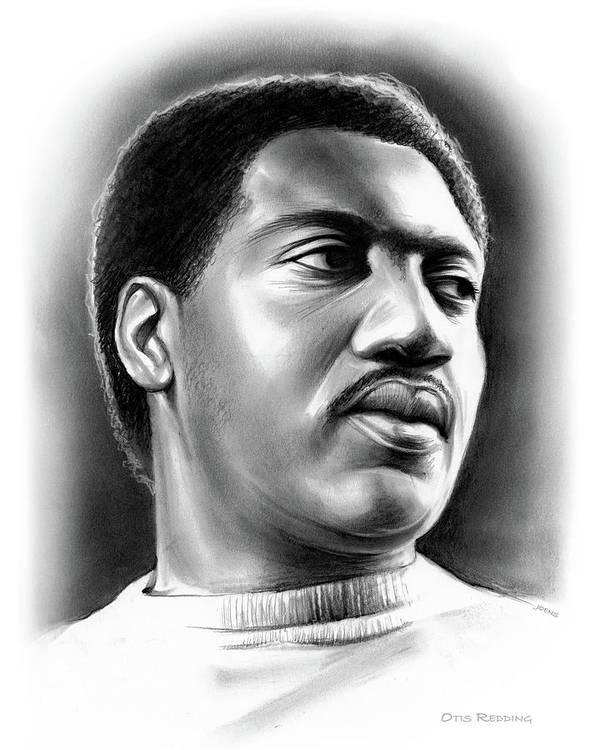 Otis Redding Art Print featuring the drawing Otis Redding by Greg Joens