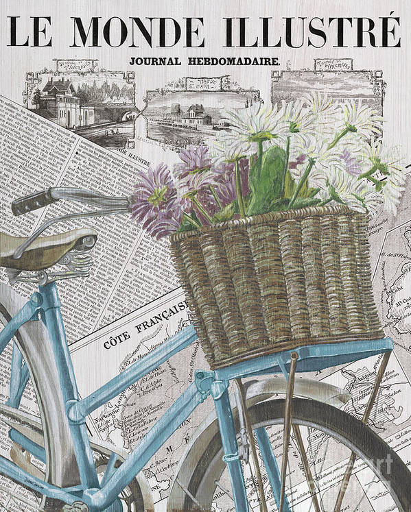 France Art Print featuring the painting Paris Ride 1 by Debbie DeWitt