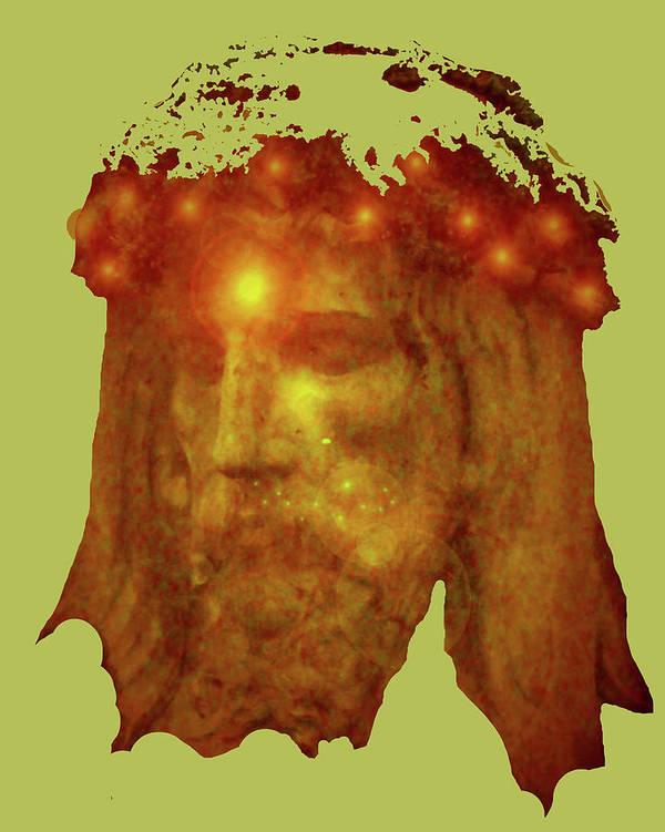 Catholic Spirituality Art Print featuring the mixed media Passion No. 01 by Ramon Labusch
