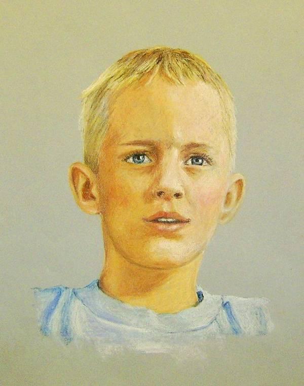 Pastels Art Print featuring the pastel Pastel Portrait Of Aaron by Jim Horton