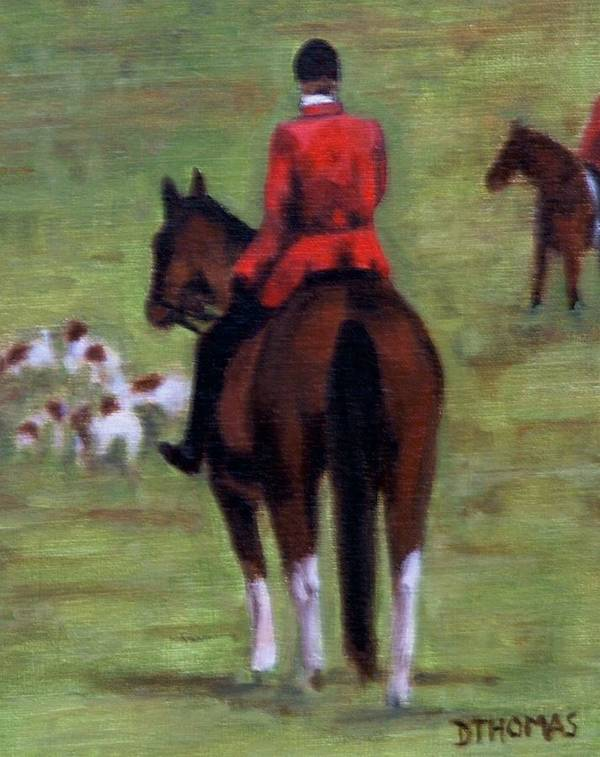 Horse Art Print featuring the painting Pause by Donna Thomas