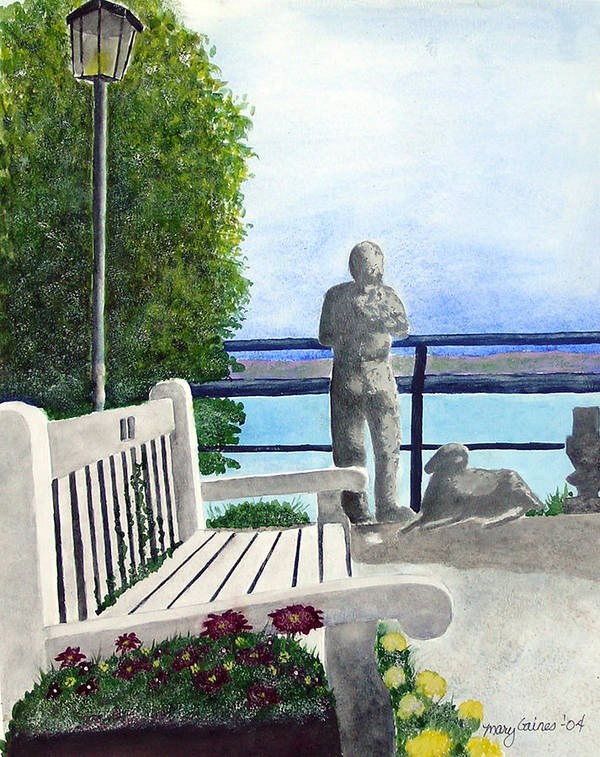 Statues Art Print featuring the print Peaceful Langley by Mary Gaines