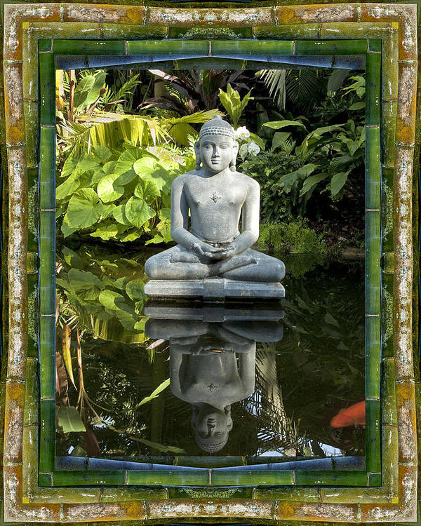 Mandalas Art Print featuring the photograph Peaceful Reflection by Bell And Todd
