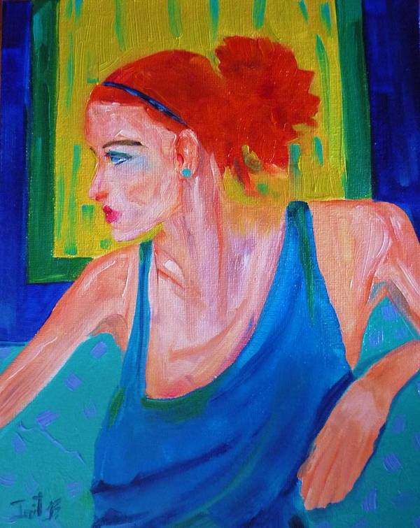 Figurative Art Print featuring the painting Perfect Match by Irit Bourla