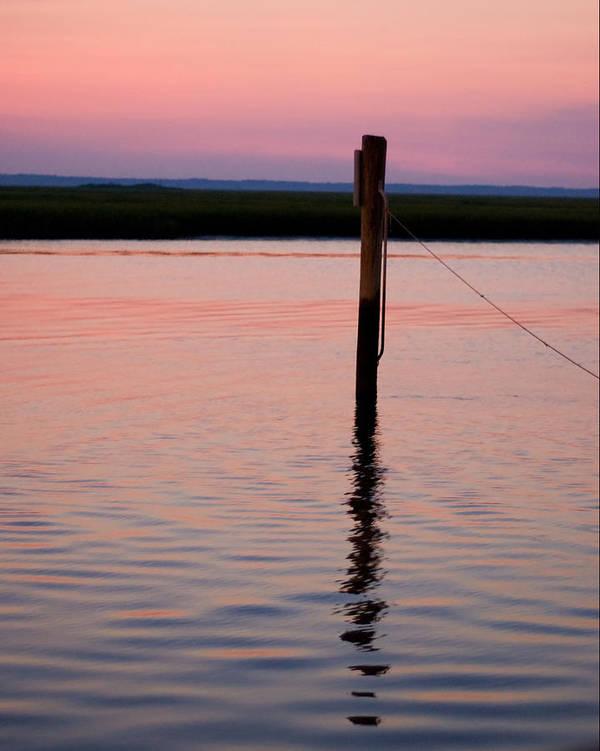 Pilon Sunset Beach Marsh Wildwood Shore Art Print featuring the photograph Pilon In Sunset by William Haney