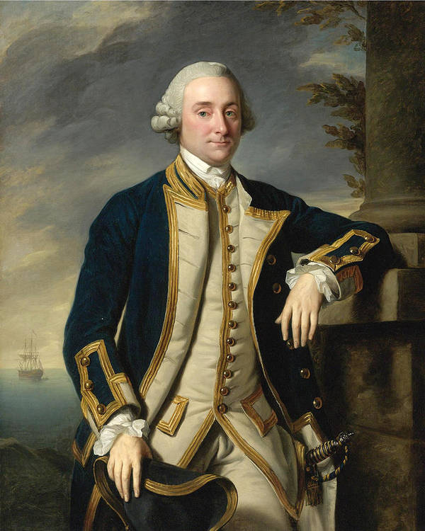 Nathaniel Dance Art Print featuring the painting Portrait Of Admiral Sir Hugh Palliser 1st Bart by Nathaniel Dance