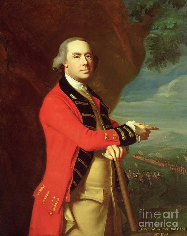 Portrait Art Print featuring the painting Portrait Of General Thomas Gage by John Singleton Copley