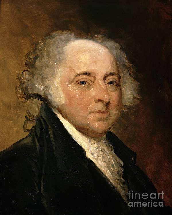 Portrait Of John Adams (oil On Canvas) By Gilbert Stuart (1755-1828) (after) Print featuring the painting Portrait Of John Adams by Gilbert Stuart