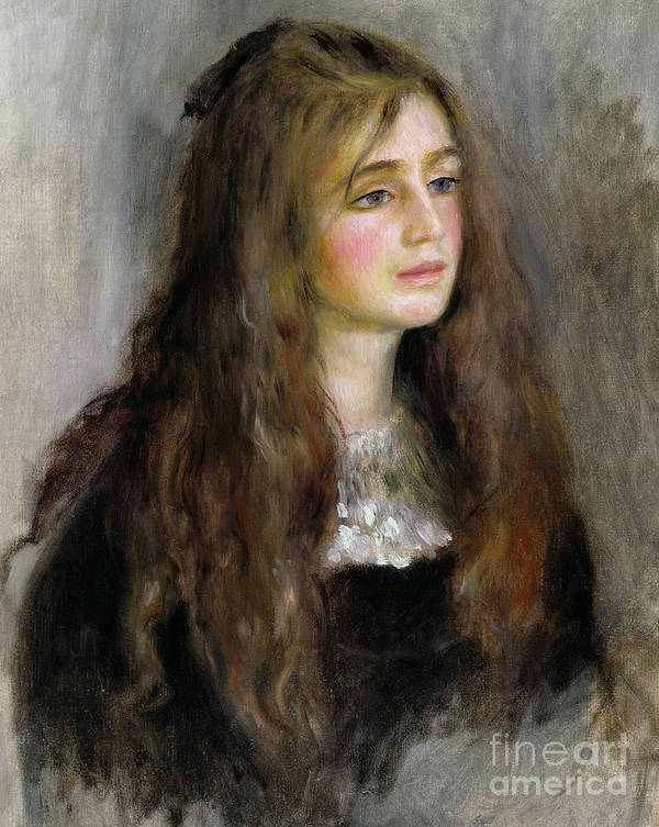 Portrait Of Julie Manet Print featuring the painting Portrait Of Julie Manet by Pierre Auguste Renoir
