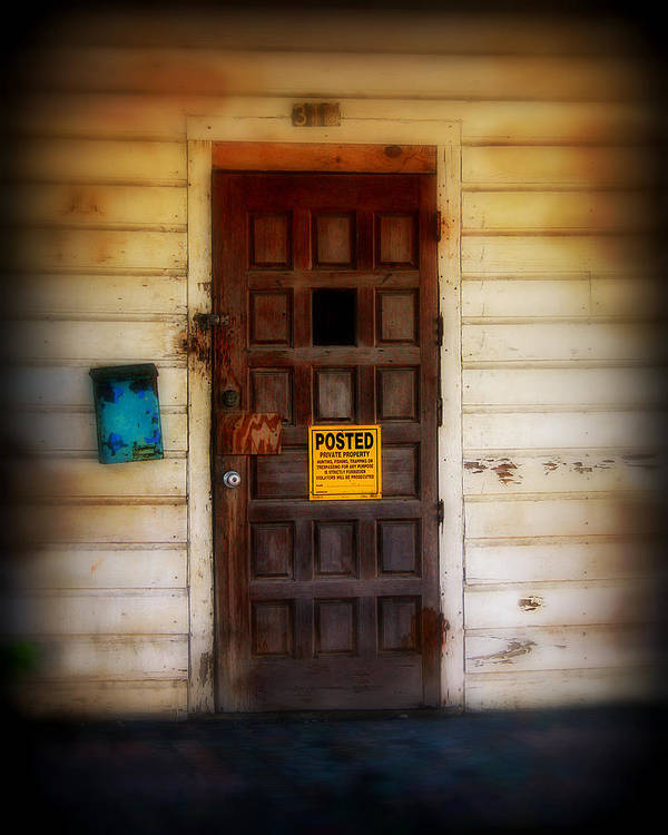 Door Art Print featuring the photograph Posted by Perry Webster