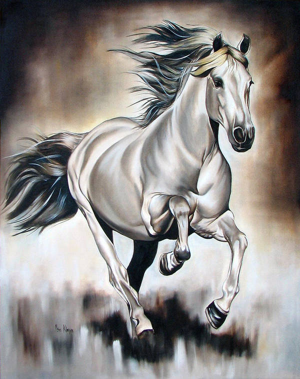 Horse Art Print featuring the painting Power by Ilse Kleyn
