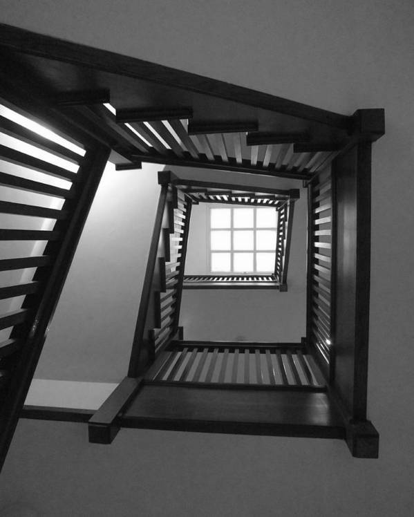 Chicago Art Print featuring the photograph Prairie House Stairs by Anna Villarreal Garbis