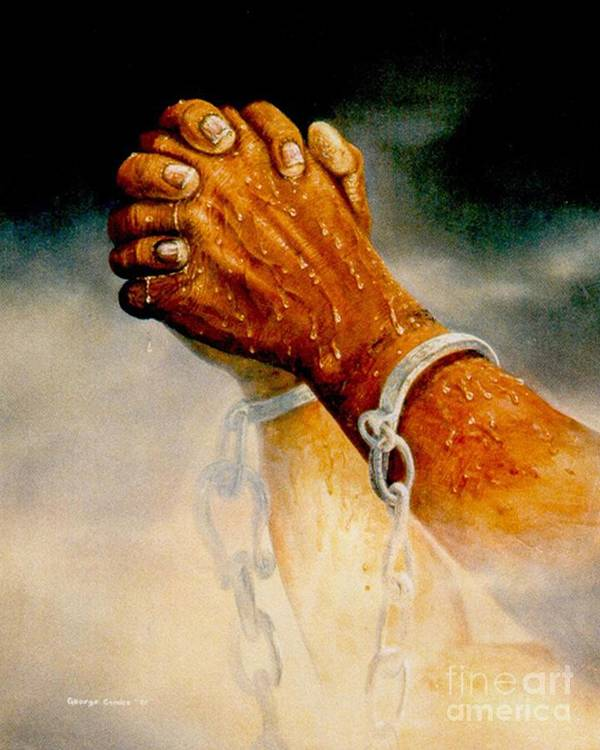 Blessing Art Print featuring the painting Praying Hands by George Combs