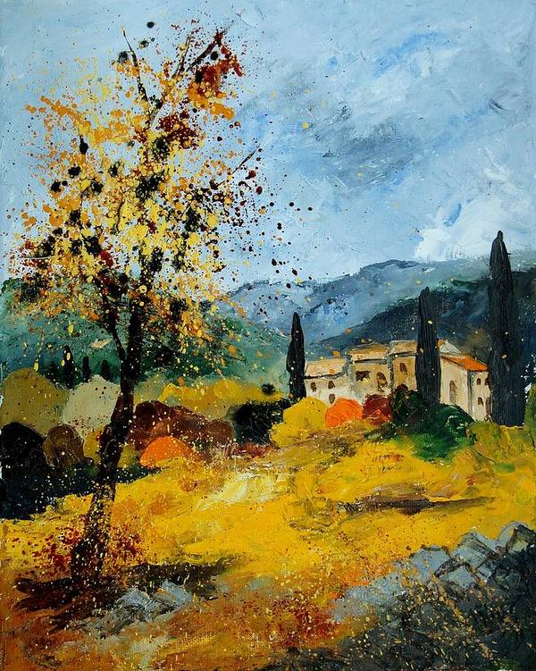 Provence Art Print featuring the painting Provence 45 by Pol Ledent