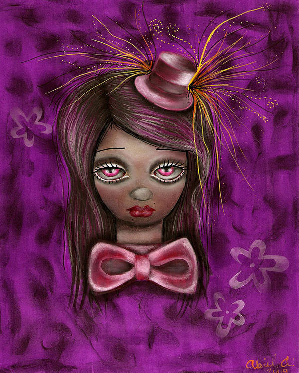Mad Hatter Print featuring the painting Purple by Abril Andrade Griffith