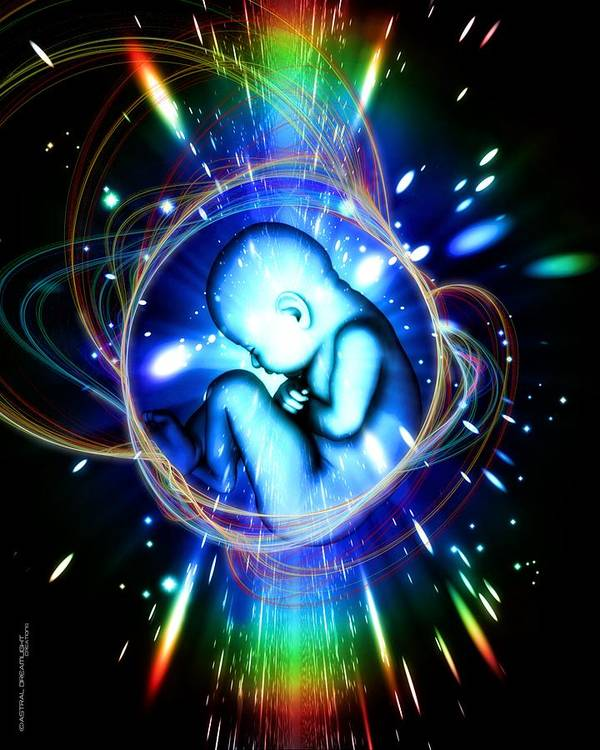 Newborn Art Print featuring the painting Rebirth by Dreamlight Creations