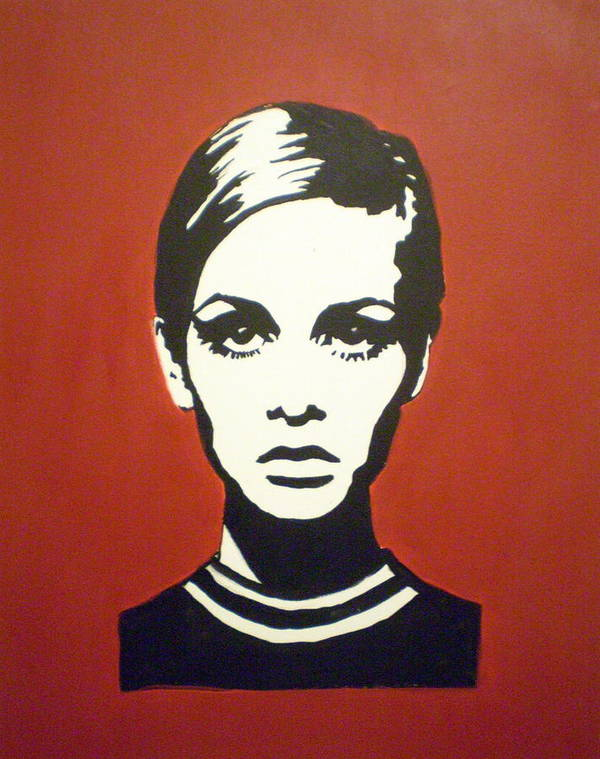 Twiggy Art Print featuring the painting Red Twiggy by Ruth Oosterman