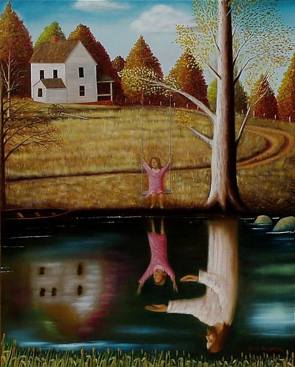 Original Sold Art Print featuring the painting Reflection Of Protection. by Gene Gregory