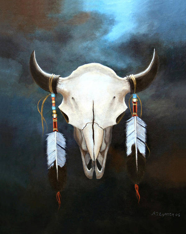 Symbolic Art Print featuring the painting Relic Of The Plains by Brooke Lyman