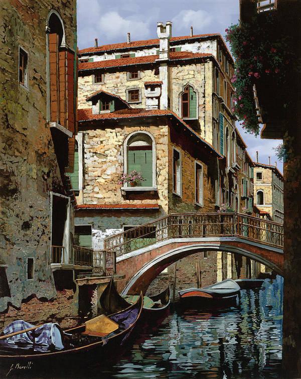 Venice Art Print featuring the painting Rio Degli Squeri by Guido Borelli