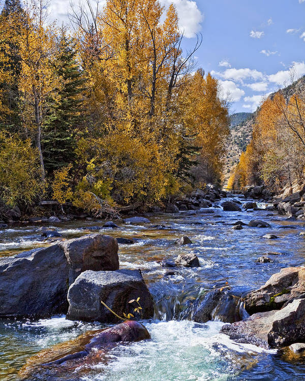 Rocky Mountain Stream Art Print featuring the photograph Rocky Mountain Water 8 X 10 by Kelley King