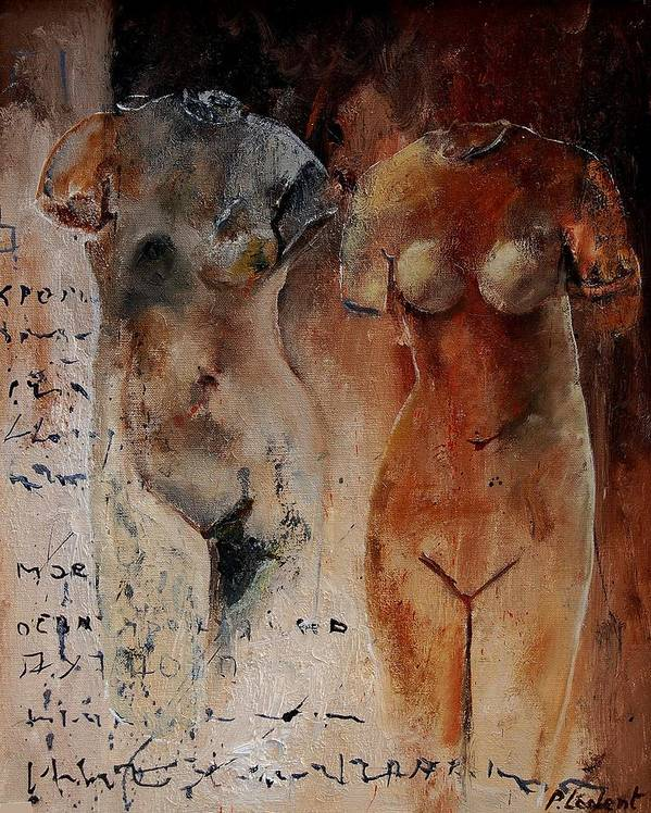 Nude Art Print featuring the painting Roman Nudes 45 by Pol Ledent
