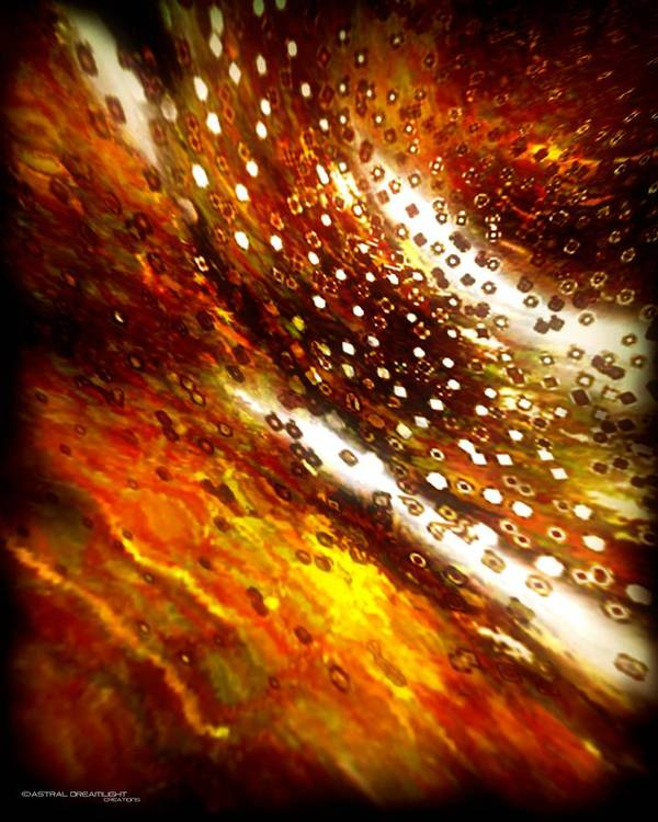 Abstract Art Print featuring the painting Rustic by Dreamlight Creations