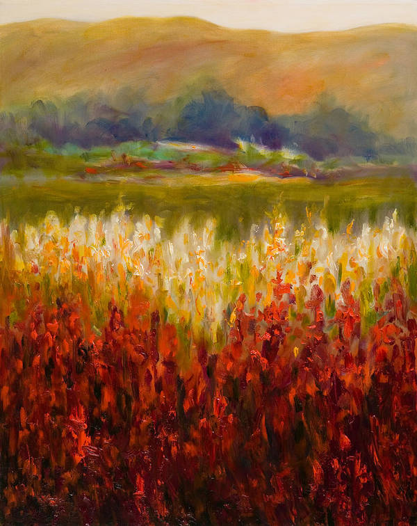 Landscape Art Print featuring the painting Santa Rosa Valley by Shannon Grissom