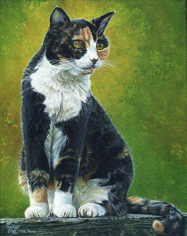 Sassy Art Print featuring the painting Sassy by Cara Bevan