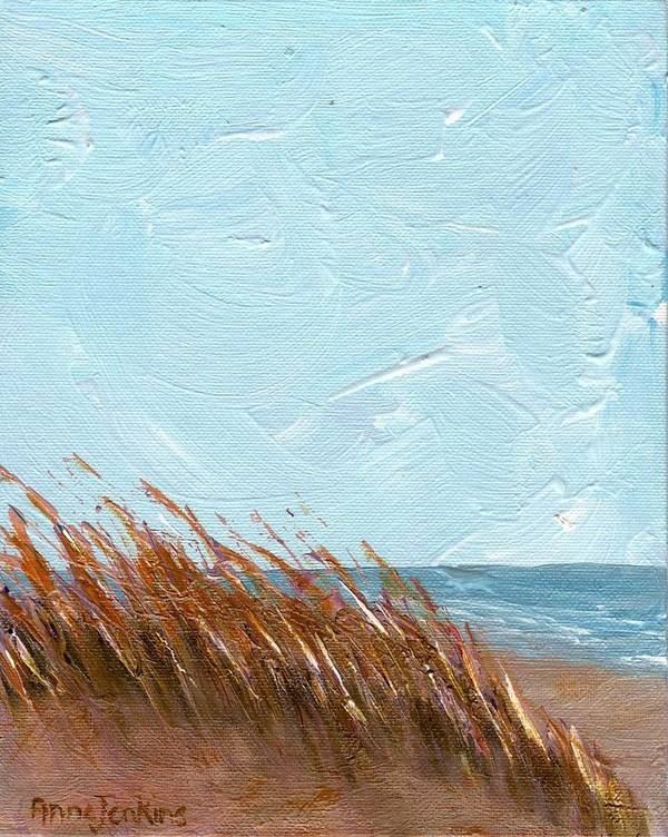 Georgia Art Print featuring the painting Sea Grass On Tybee Island by Anne Jenkins