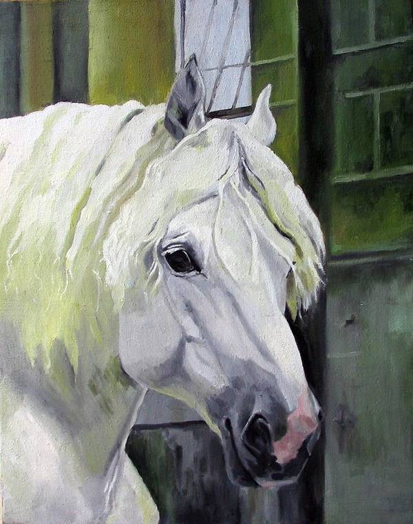 Horse Art Print featuring the painting Shadowfax by Nel Kwiatkowska